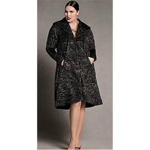 Isabel Toledo Lane Bryant Rare Faux Fur Swing Coat